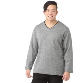 メンズ LOUIS CHAVLON <大きいサイズ> 長袖ニットソーVネックTシャツ