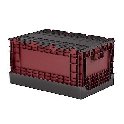 創意達人x樹德栗林掀蓋摺疊物流箱5入組