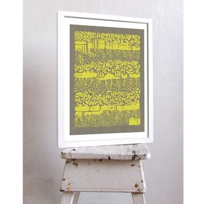西班牙插畫家Judy Kaufmann藝術版畫-世界(設計掛畫附簽名/含木框)