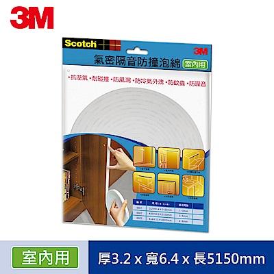 3M 室內用氣密隔音防撞泡棉 -間隙 1~3 mm (6601)