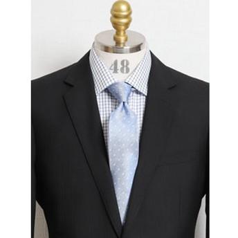 【TAKA-Q:スーツ・ネクタイ】アイスカプセル シルクドット柄ナローネクタイ7.5cm幅