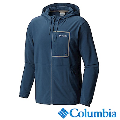 Columbia 哥倫比亞 男款-防潑防曬連帽外套-深藍(UAE06390NY)
