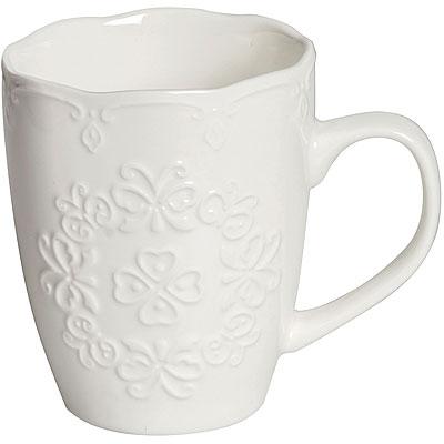 《EXCELSA》浮雕瓷製馬克杯(350ml)