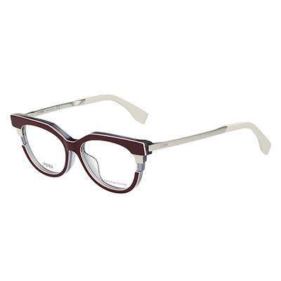 FENDI 廣告主打 光學眼鏡 (深紅色)FF0116