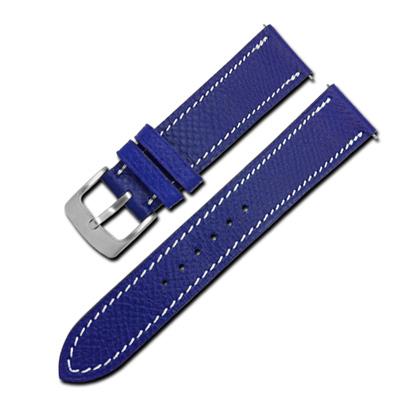 Watchband / HERMES 愛馬仕-法國進口柔軟替用真皮錶帶-藍紫色
