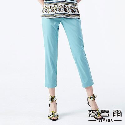 【麥雪爾】素色彈力修身長褲