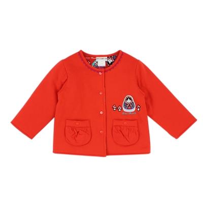 愛的世界 純棉俄羅斯娃娃舖棉兩面穿外套/1~4歲