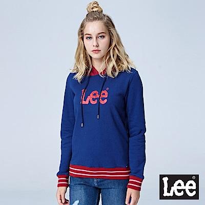 Lee 條紋配色LOGO帽Tee-藍色