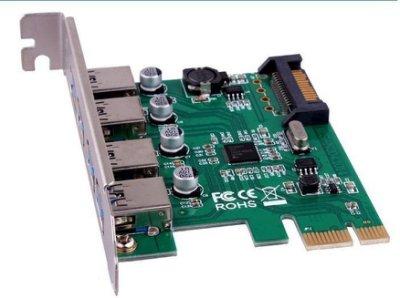 盒裝 PCI-E 轉 USB 3.0 USB3.0 NEC 最新 μPD720201晶片 xHCI rev1.0 傳輸5GB 固態電容  外4埠