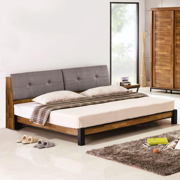 YoStyle 洛基工業風床架組(含床頭箱)-雙人加大6尺 床組 雙人床 專人配送安裝