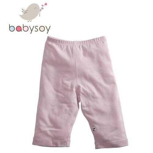 美國[Babysoy] Janey Baby有機棉百搭彈性長褲626 淺粉