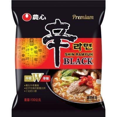 韓國農心頂級黑色辛拉麵.黑辛麵 - 牛骨雪濃湯味4入裝/ 新鮮到貨囉