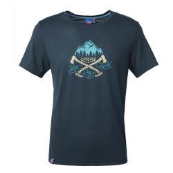 Wildland 荒野 男雙色印花抗UV排汗上衣 0A61686-72