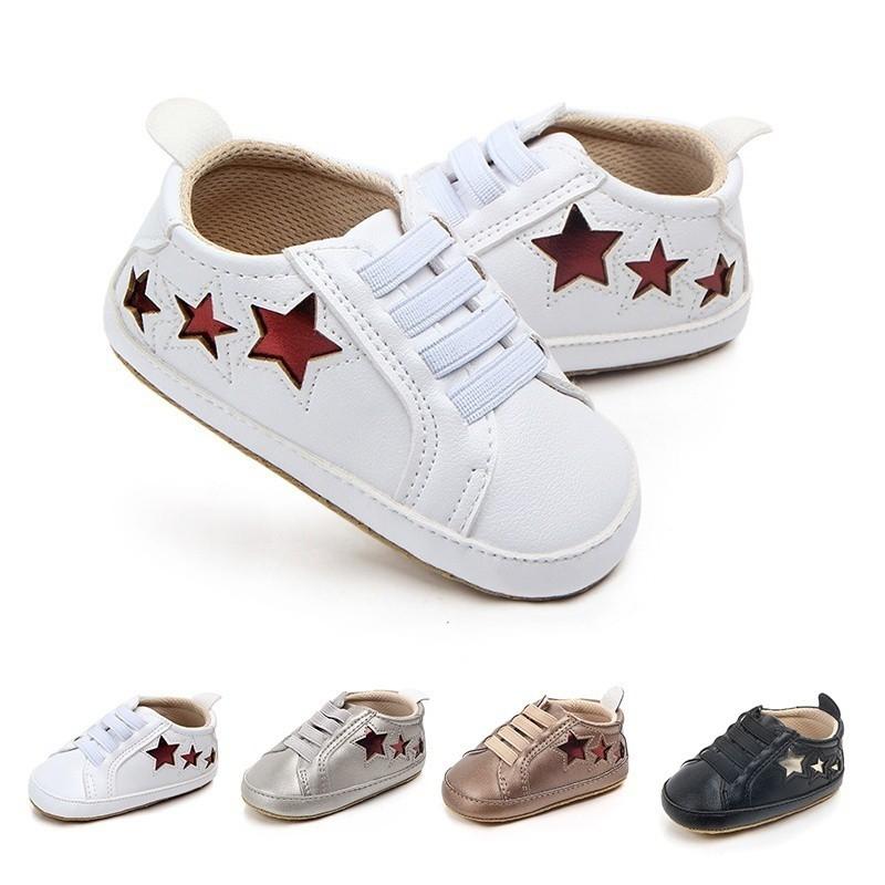 春秋熱款低幫五角星休閒嬰兒鞋0-1歲寶寶鞋【IU貝嬰屋】