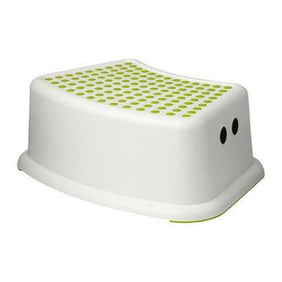 【莓尤幸福 MerCy】FÖRSIKTIG 兒童安全腳凳, 白綠色 IKEA