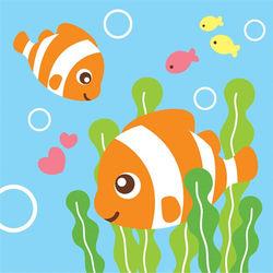 LOVIN 超萌韓版數字油畫海洋系列可愛小丑魚(11) 1幅