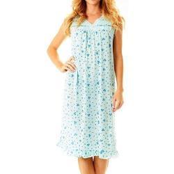 Love21 女款可愛花卉淺綠色蕾絲寬鬆睡衣(預購)