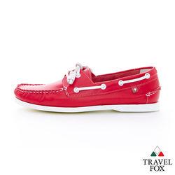 Travel Fox(男) NEW BLACK 馬卡龍彩色帆船 - 紅