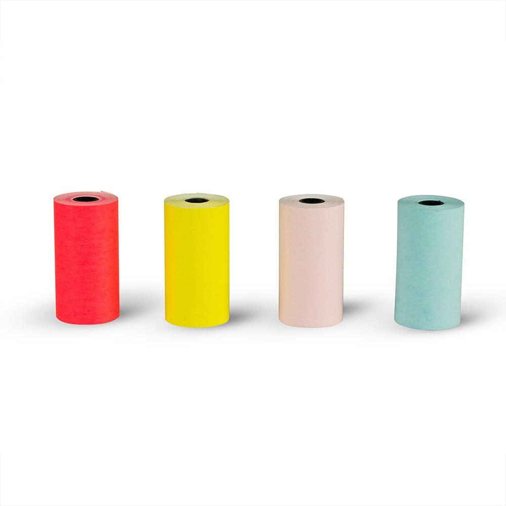 PAPERANG 口袋列印喵喵機 彩色感熱紙-4色入 隨身列印 感熱紙 紙捲 附發票 喵喵機專屬用紙