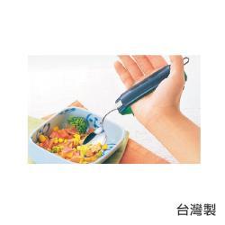 感恩使者 多功能助握套 E0028-皮革製-附木片式-(餐具套 握筆套)-日本製