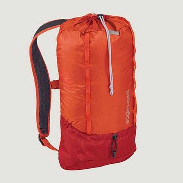 【Eagle Creek美國人氣旅遊配件】RFID超輕量防撕裂雙肩後背包13L (烈焰橘)