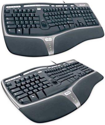 微軟 人體工學 鍵盤 4000 ,USB接頭,市場銷量第一,健康最重要,公認最舒適鍵盤,店長推薦, 全新