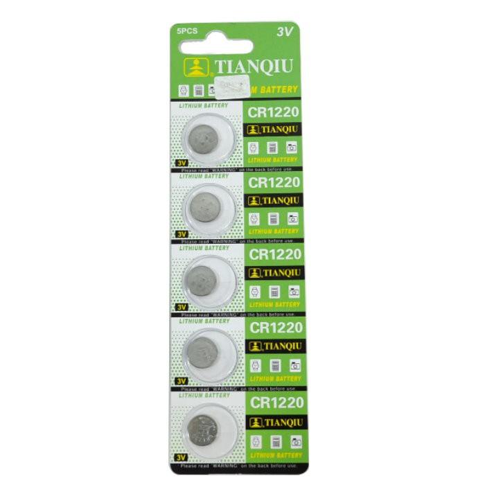 環保型鈕扣電池/水銀電池CR1220發光眼鏡飾品專用3V(一卡5顆)~不拆售【GU303】