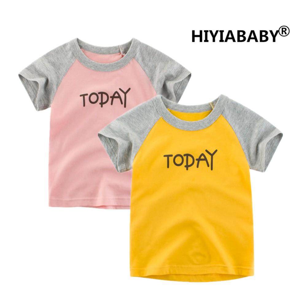 純棉女童t恤女寶寶t恤短袖t恤兒童t恤夏季兒童短袖HIYIABYAY