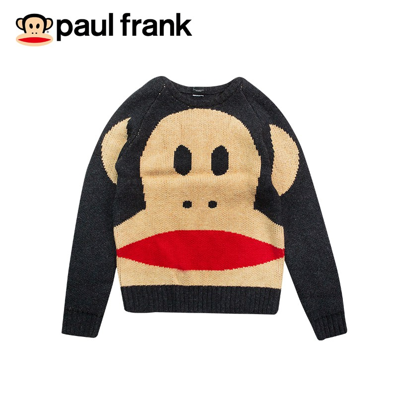 paul frank- julius變身小猴針織上衣(女版) - 黑/咖啡