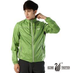 【遊遍天下】男款抗UV防風反光條連帽薄外套G0310淺綠