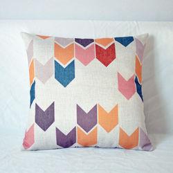 【協貿】文藝復古幾何圖案棉麻C款方形抱枕含芯