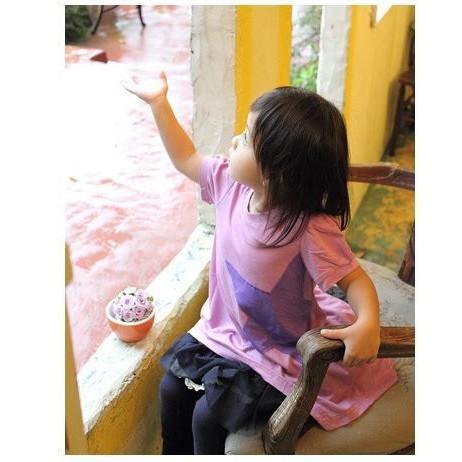 娃娃裝台灣製星星粉紫色造型星星純棉娃娃裝上衣獨家款 台灣製造 nafee精品童裝 夏裝