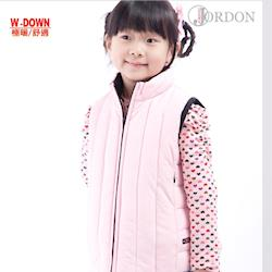 【JORDON】中性款兒童直紋羽絨背心 #0150