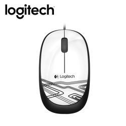 【logitech 羅技】彩色酷炫有線滑鼠 M105 白