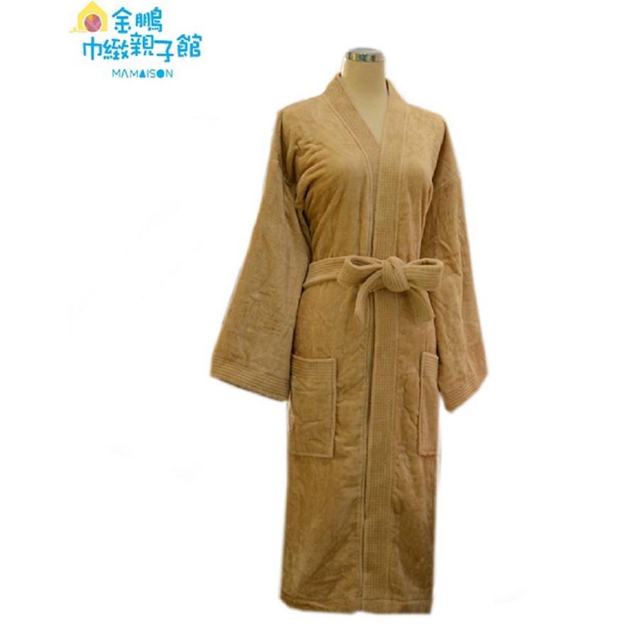 永鵬(金鵬)毛巾〔台灣製〕高級絨面浴袍/六支針(卡奇)S M L