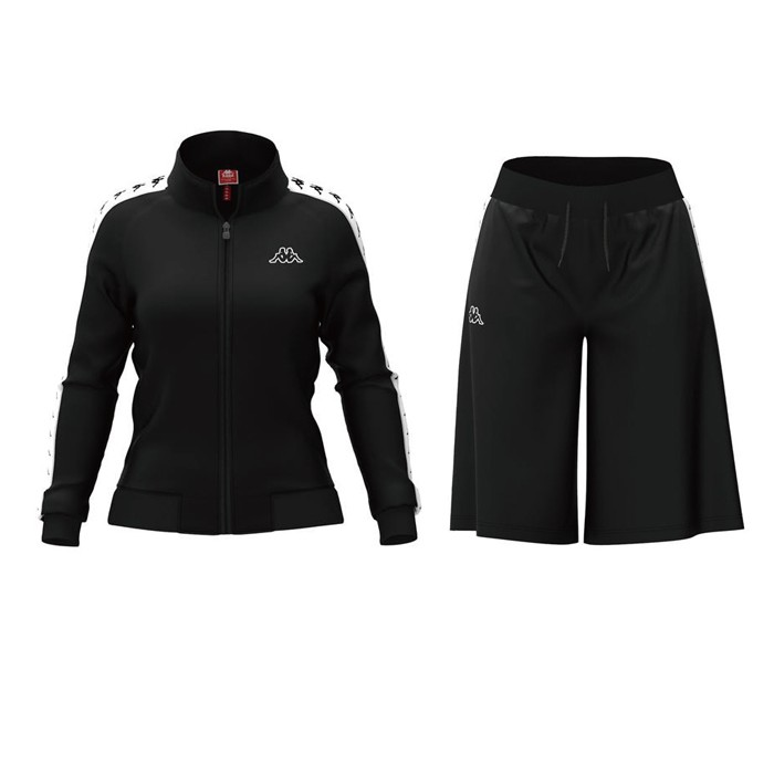 KAPPA 女款 義大利款 串標 休閒運動寬褲套裝 301PSC0C22 303WB80C22