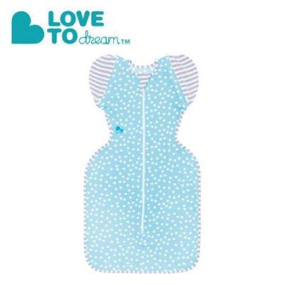 澳洲 Love To Dream SWADDLE UP 專利蝶型包巾 stage2(輕薄款) 藍點L