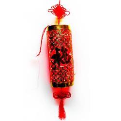 【摩達客】農曆春節特選 {LED燈招財炮竹燈串(附IC控制器)} 吊飾