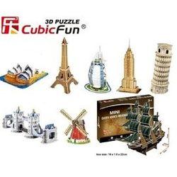 【海夫健康生活館】樂立方3D立體拼圖8款 兒童玩具 迷你建築模型 風靡歐美