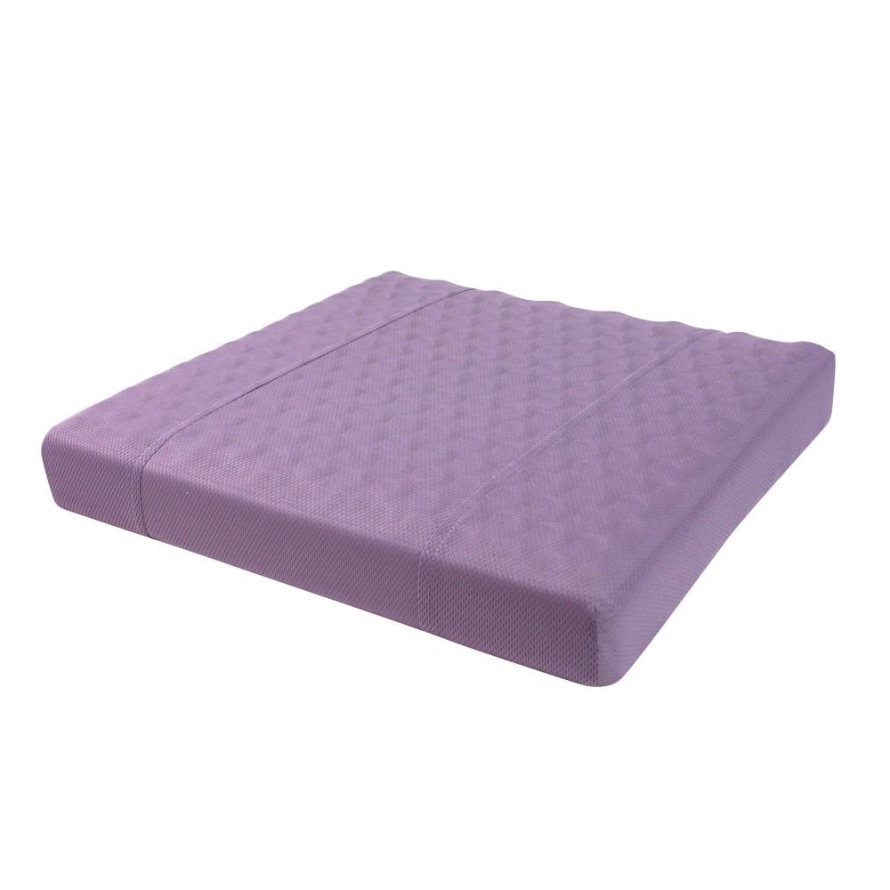 HOLA 高密度抗菌健康工學按摩坐墊紫色