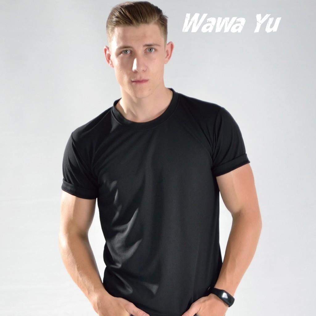 素色T恤-黑色-男版 (尺碼XS-3XL) [Wawa Yu品牌服飾]