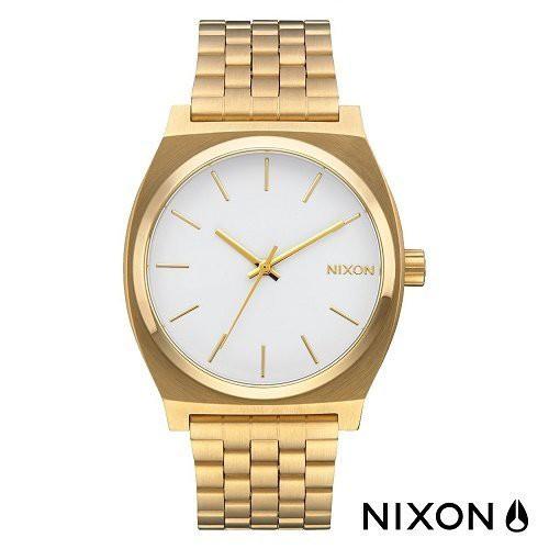 NIXON A045-508《Time Teller 系列》37mm/防水100米/簡約百搭/男女兼用/金白【第一鐘錶】