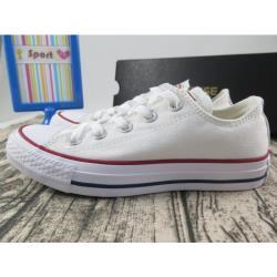 ◎.型號:M7652C|◎.Converse 低筒 基本款 帆布休閒鞋 全白 紅邊線|◎定位:運動品牌品牌:CONVERSE適用性別:男生,女生款式:帆布鞋尺寸:24.5cm,25cm,25.5cm,