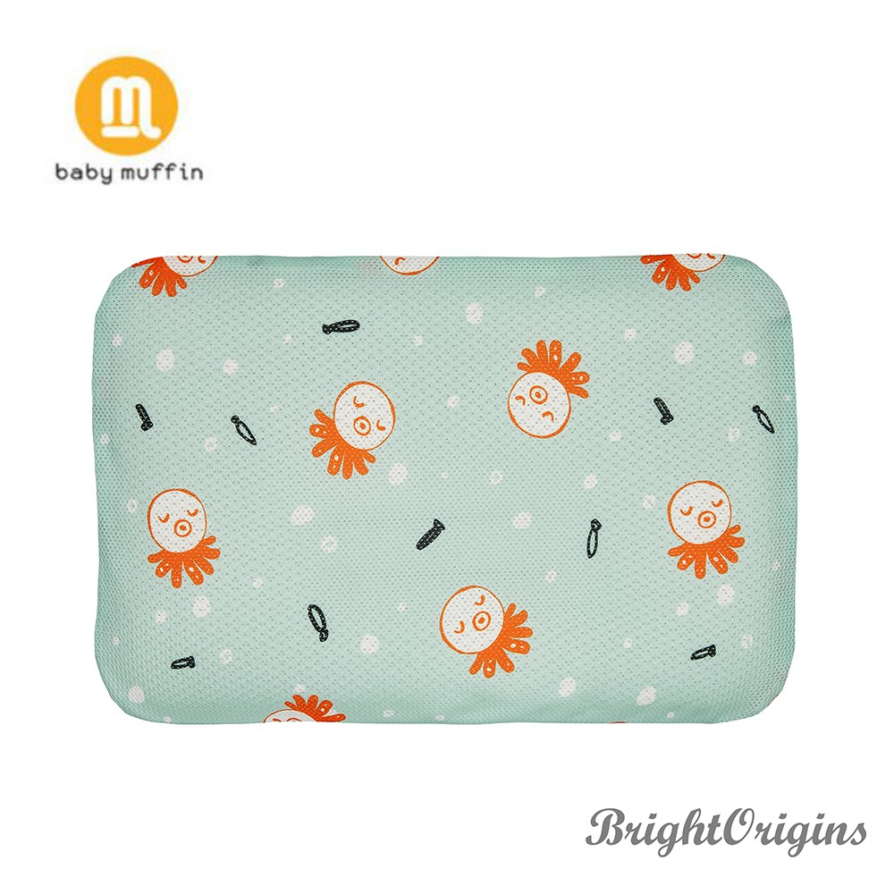 baby muffin 3D透氣塑型枕(兒童款)-海藍章魚