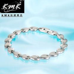 KMK鈦鍺精品【荷葉風情】純鈦+磁鍺健康手鍊