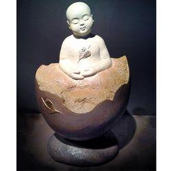 【開運陶源】無舍老師 限量原作銅雕~誕生菩提-善財童子