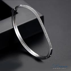 DINA JEWELRY蒂娜珠寶  微妙愛戀 CZ鑽造型手環 (TM61115)