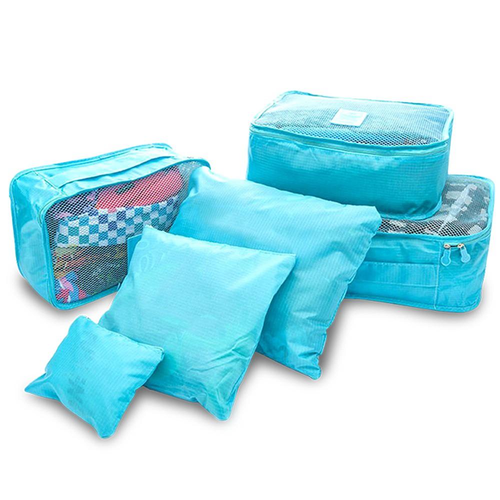 旅行收納袋六件組 1818001 (顏色隨機出貨)