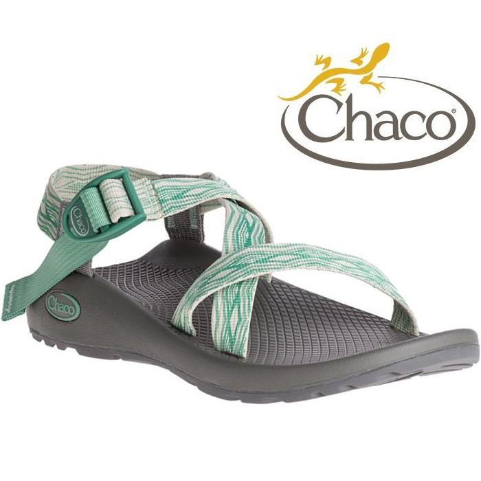 Chaco 涼鞋/越野運動涼鞋/水陸鞋/綁帶涼鞋-標準款 女 美國佳扣 CH-ZCW01 HE38 帝國松綠