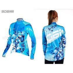 SOOMOM 幻影 女薄長袖車衣-反光條 自行車 腳踏車 單車 水藍